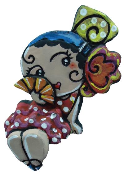 gitana con peineta flor y abanico en la cara antonio ruiano