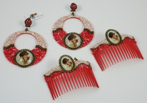 pendiente motlote hispania flamenco