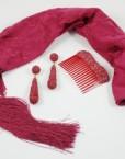 pendientes y peina maype manton hispania flamenco