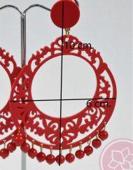 pendiente flamenca acetato troquelado carvajal hispania flamenco