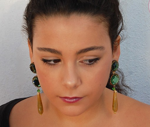 pendiente flamenca carvajal hispania flamenco