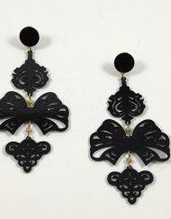 pendientes 2 piezas negro carvajal hispania flamenco
