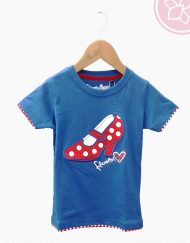 Camiseta azul benegassi hispania flamenco
