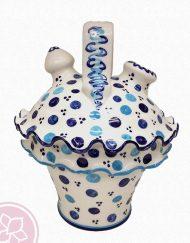 Botijo grande de cerámica pintado a mano por Jugum.