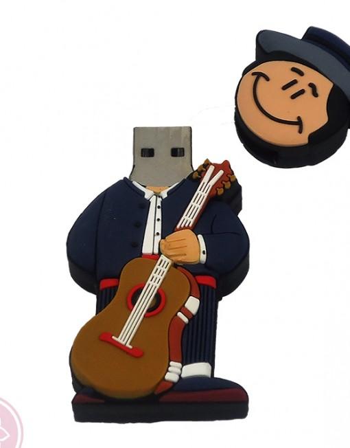 USB de 8GB con forma de muñeco flamenco con guitarra. Ahora en oferta a un 50%.