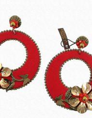 Pendientes con diseño exclusivo y muy favorecedor de la firma lenaná Medidas 9,5 cm de largo y 7,5 cm. de ancho.