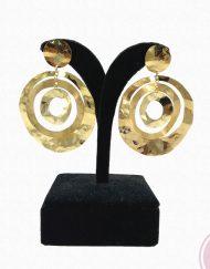 pendiente dorado arto artesania carvajal hispania flamenco.
