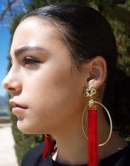 pendiente aro flecos maype hispania flamenco