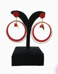 pendiente dorado hispania flamencp