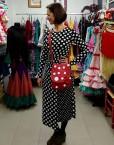 bolso piel rojo lunares blancos hispania flamenco
