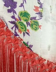manton gasa flecos coral hispania flamenco