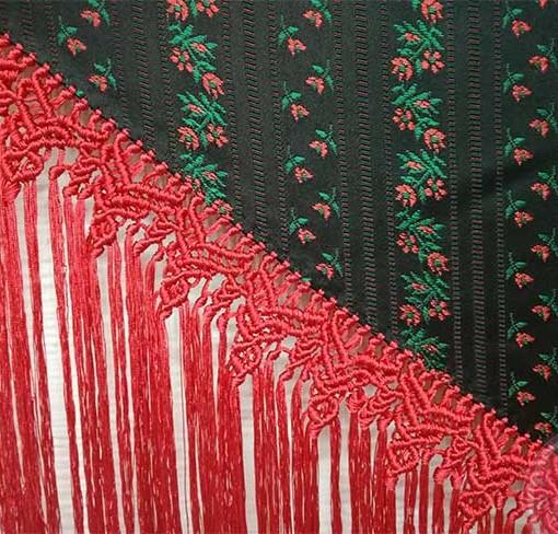 manton estampado flores hispania flamenco