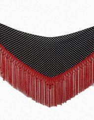 manton negro lunares blancos hispania flamenco