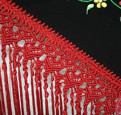 manton negro bordado hispania flamenco