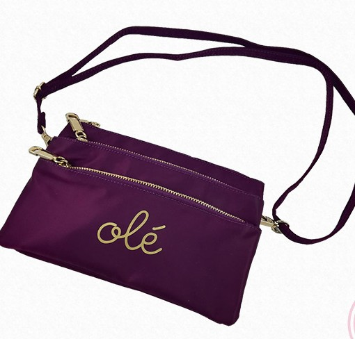 "bolso cartera morado ""Olé"" Hispania Flamenco."