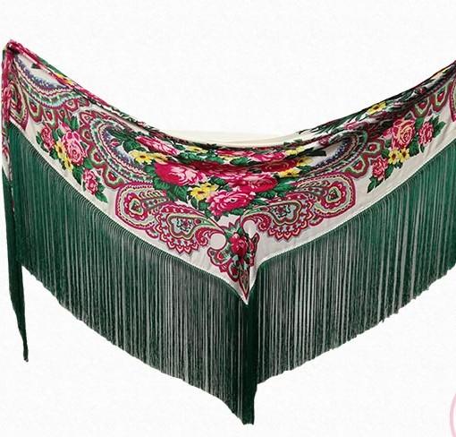 manton flecos verdes hispania flamenco