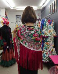 manton flecos fucsia hispania flamenco