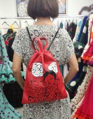 Mochila bolso multiuso blanco de Camu Camu exclusivas para Hispania Flamenco.