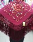 manton seda bordado a mano foronda hispania flamenco