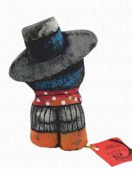 Figura de un flamenco. Esta pieza de cerámica es obra original del artista gaditano Antonio Ruano.