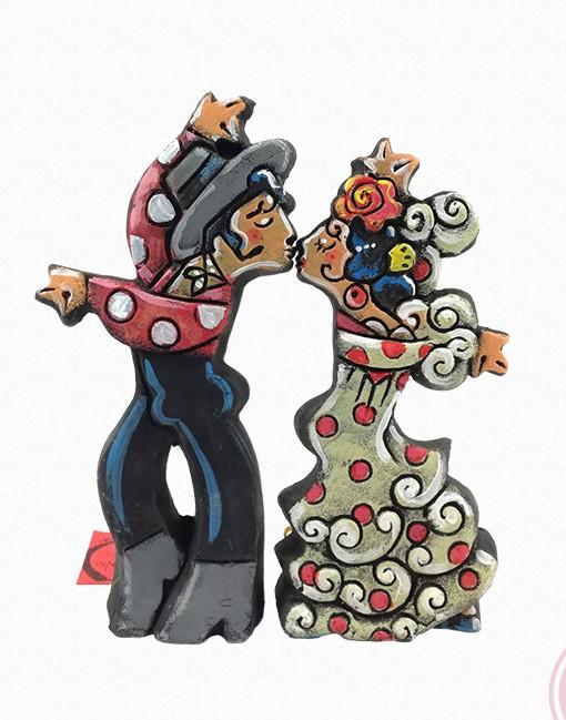 bailao besando ceramica de antonio ruano Hispania Flamenco