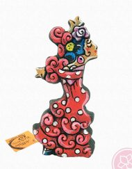 Gitana traje rojo ceramica antonio ruano hispania flamenco