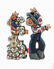 figura gitana traje blanco. ceramica antonio ruano hispania flamenco
