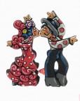 Figura de flamenco bailando con camisa blanca. Esta pieza de cerámica es obra original del artista gaditano Antonio Ruano.