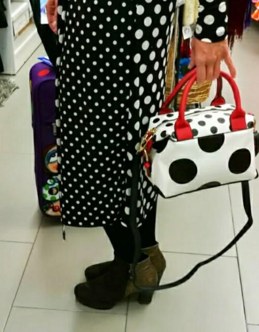 tienda bolso bolso blanco con lunates negro hispania flamenco