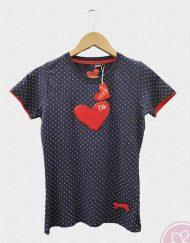 tienda camiseta mujer corazon rojo ole 1