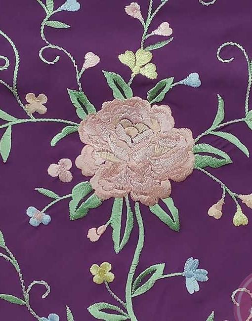 manton morado bordado hispania flamenco