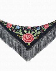 tienda manton negro flores