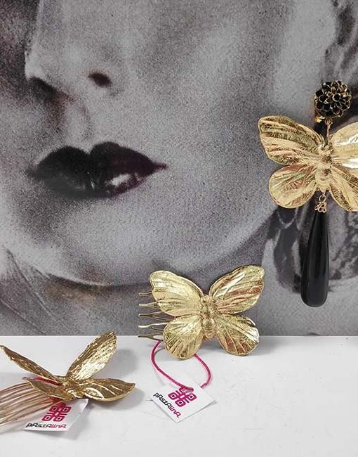 tienda pendiente y peina mariposa