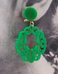 detalle pendiente niña troquelado verde andalucia