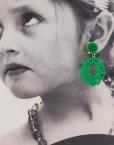 tienda pendiente niña troquelado verde andalucia