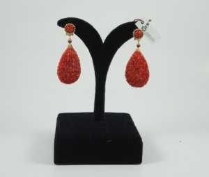pendientes coral machacado morlote hispania flamenco