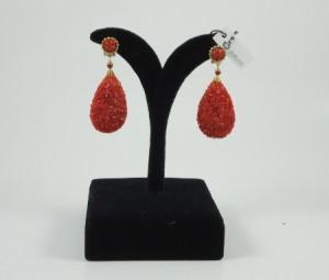 pendientes coral machacado morlote hispania flamenco