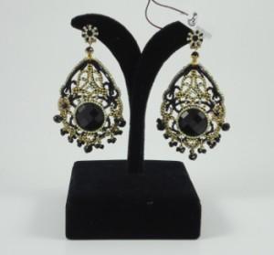 pendiente negro y dorado de rocalla morlote hispania flamenco