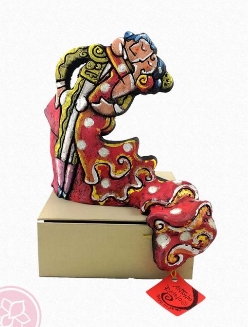 beso bailaora y torero antonio ruano e hispania flamenco