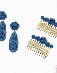 pendientes y peinas resina hispania flamenco florsali
