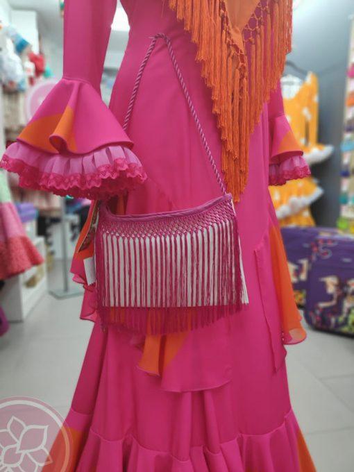 bolso fucsia flecos hispania flamenco