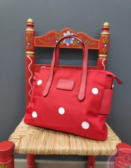 bolso rojo lunares hispania flamenco