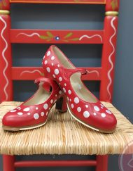 zapatos para flamenco rojo con lunares blancos hispania flamenco