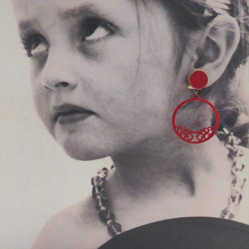 Pendiente niña flamenco carvajal hispania flamenco
