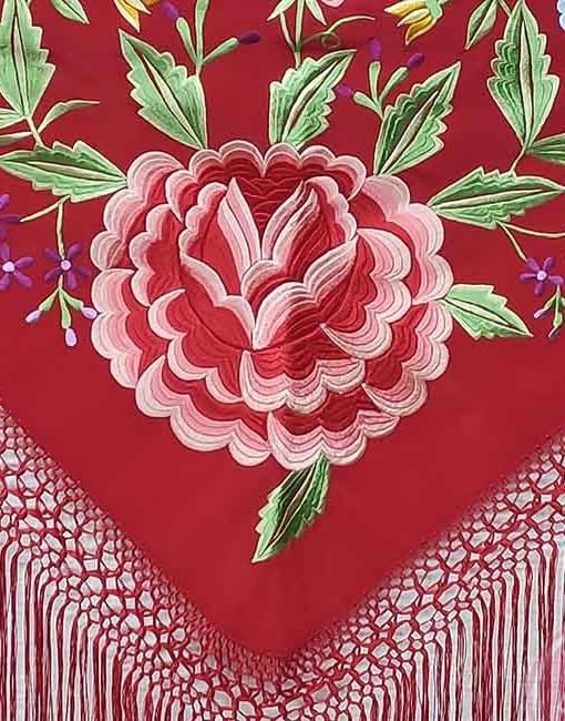 manton bordado hispania flamenco