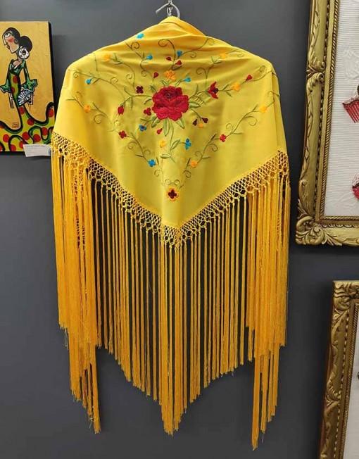 tienda manton estampado amarillo