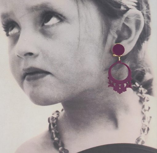 pendiente niña cardenal flamenco hispania flamenco