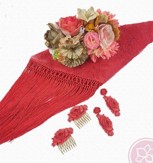 tienda manton tu coral hispania flamenco