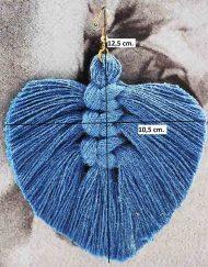 medidas pendiente hilo azul