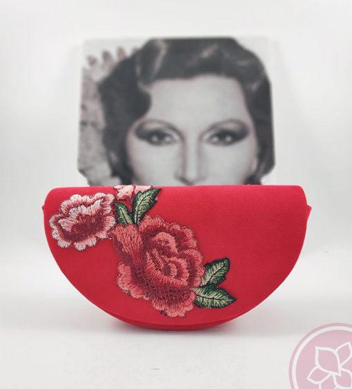 ienda bolso medialuna rojo hispania flamenco